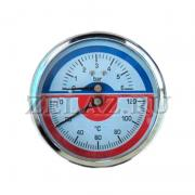 Термоманометр 6 bar/120C осевой (индикатор давления и температуры) - фото